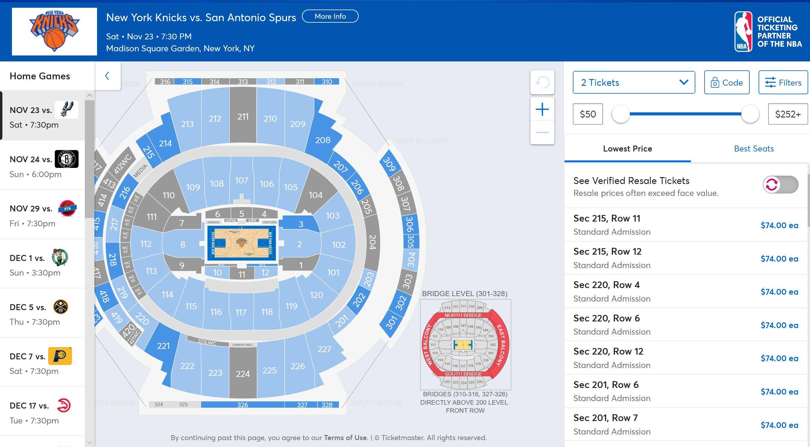 Comprare i biglietti per i New York Knicks