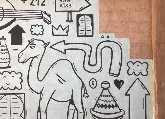 Muro decorativo a Meknes