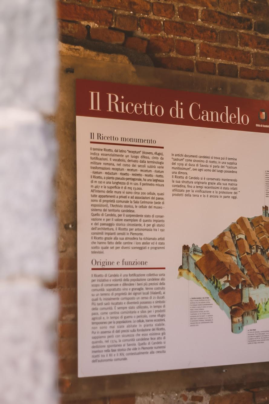 Iconografia di spiegazione del Ricetto di Candelo