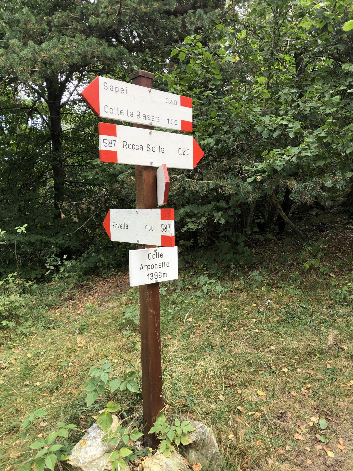 indicazioni sentieri